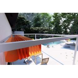 Toile rétractable terrasse