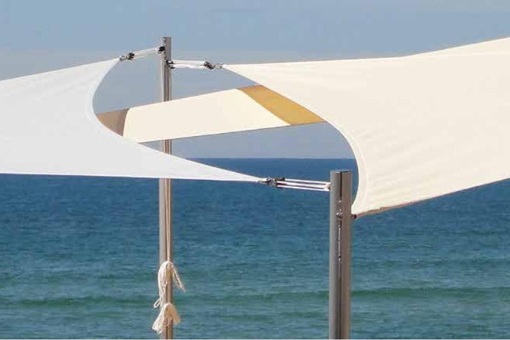 Mât aluminium pour voile d'ombrage