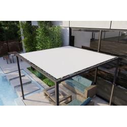 1 bâche LODGE 6002- 20183 blanc avec oeillets périphérique- 585X284cm