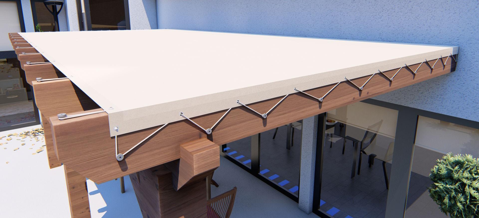 Configurateur de toile sur mesure pour pergola bois